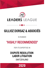 Leaders League 2020 - Highly recommended - Dispute resolution, Labour litigataion